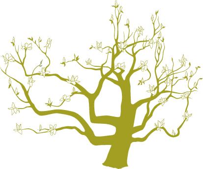 413x344 Wedding Logo Japanese Magnolia Tree What's Jenny Making