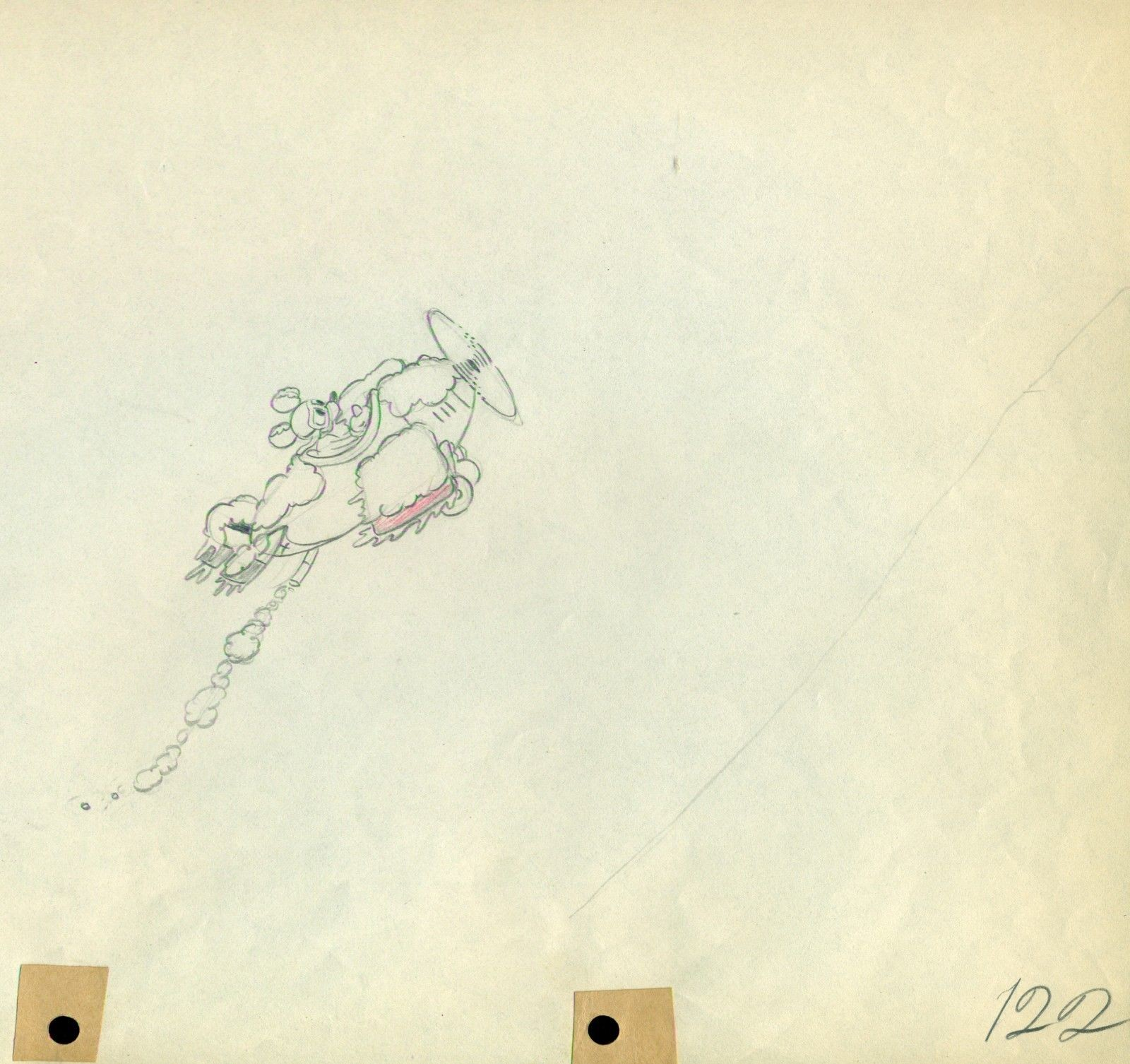 1600x1506 Original Walt Disney Production Drawing From The Mail Pilot