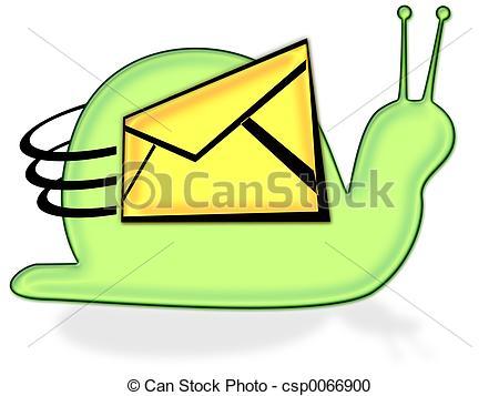 450x357 Snail Mail Clipart Stock Illustration