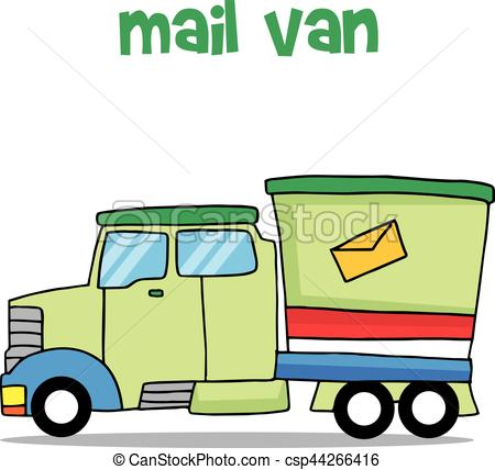450x428 Illustration Vector Of Mail Van Collection Stock Vector Clip Art