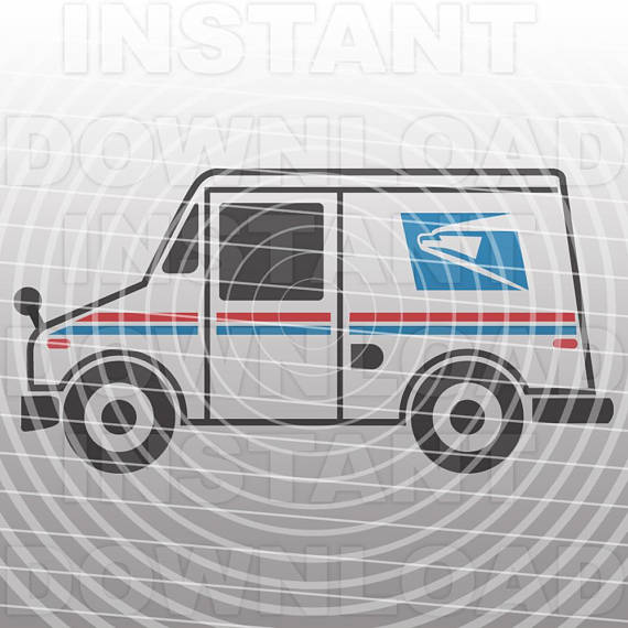 570x570 Mail Truck Svg Filepostal Truck Svgpost Office Svg.svg