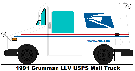 Mail Truck Drawing at GetDrawings.com | Free for personal use Mail ...