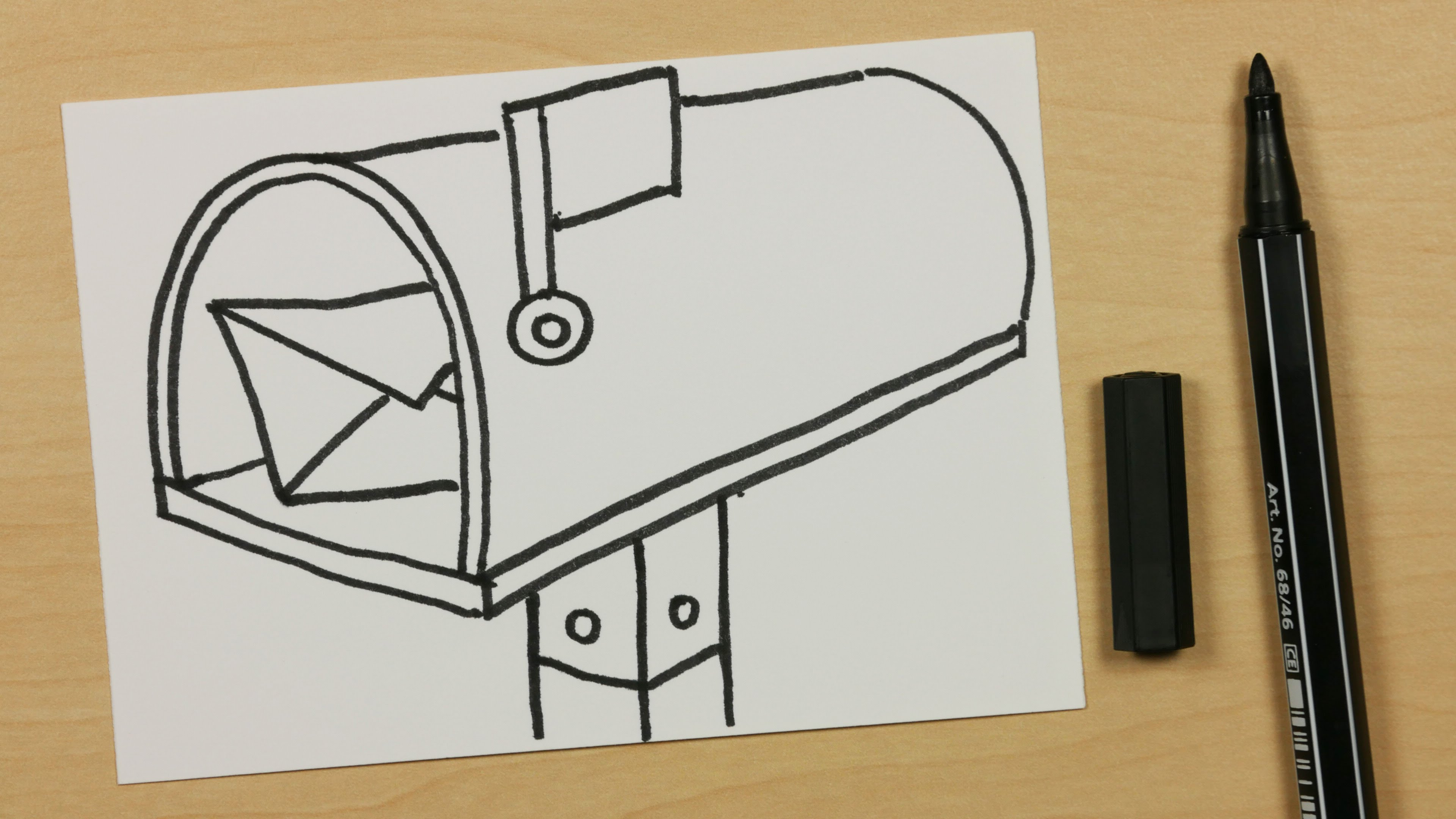3840x2160 How To Draw A Mailbox, Postbox Or Letterbox