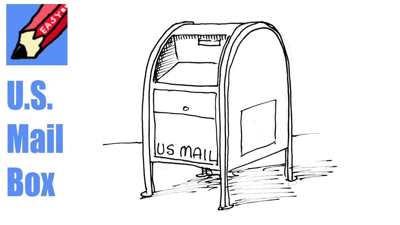 1280x720 How To Draw A Us Mail Box