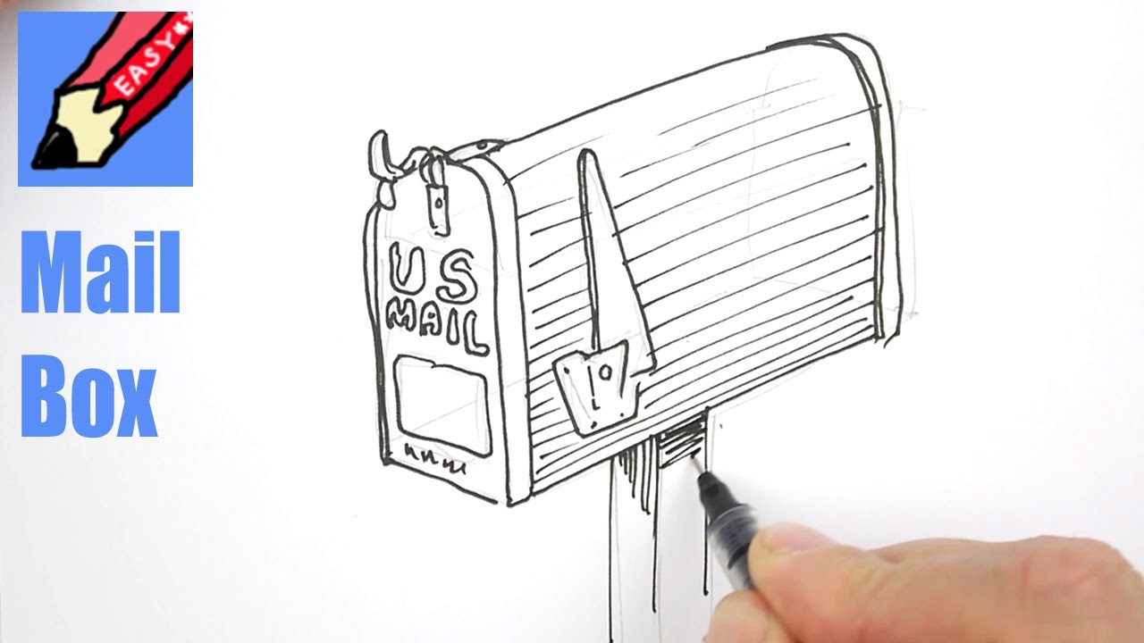 1280x720 How To Draw A Mail Box