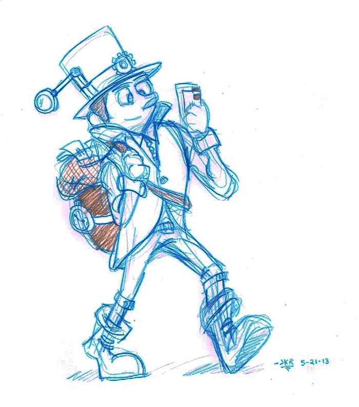 700x794 Steampunk Mailman Life, Art, And Monkeys