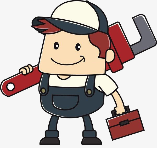 600x565 Someone Carrying The Maintenance Case, Cartoon Hand Drawing, Lift