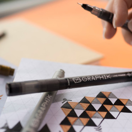 450x450 Derwent Graphik Line Maker Drawing Pen Black Cult Pens