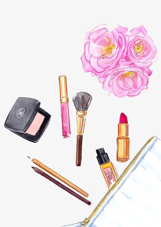564x797 Drawing Cosmetics, Cosmetic, Foundation, Makeup Brush Png Image