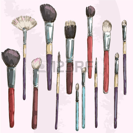 450x450 Makeup Brush Drawing Makeup Brush D Art Colors And Paintbrushes