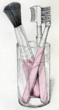 201x374 Makeup Brushes. Colored Pencil Amp Graphite. Sketchy
