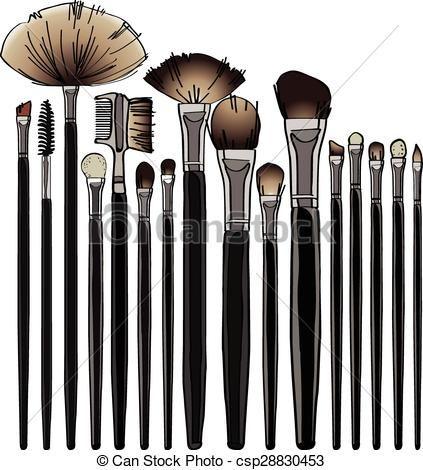 423x470 Makeup Brush Clip Art Vector Graphics. 2,913 Makeup Brush Eps