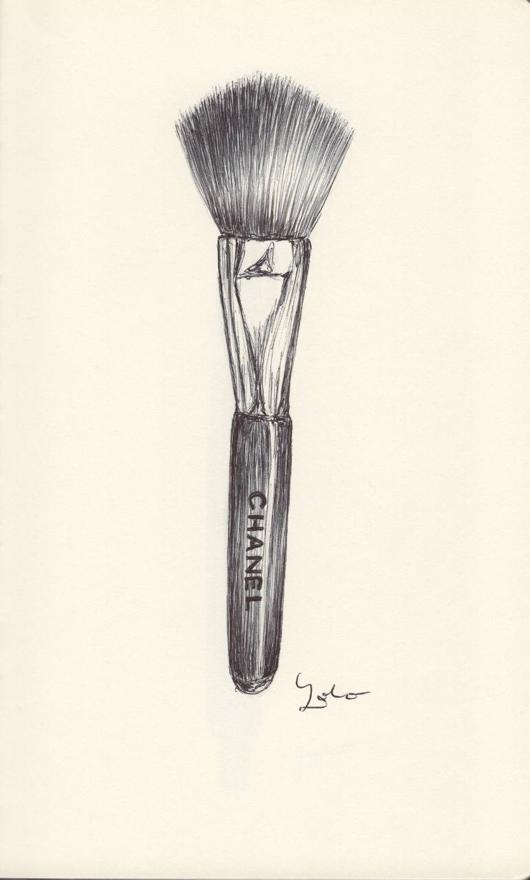 Makeup Drawing: Makeup Brush Drawing At GetDrawings.com