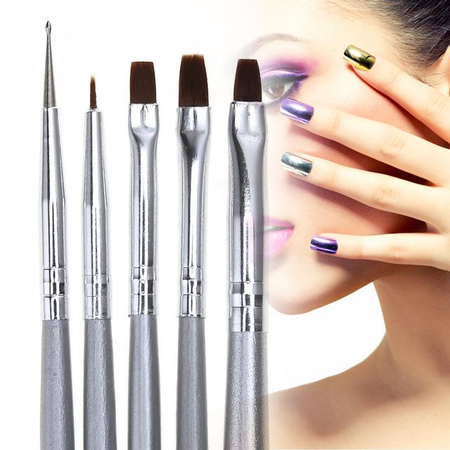 640x640 5pcs Nail Art Uv Gel Makeup Brushes Diy Fingernail Design Tips Dot