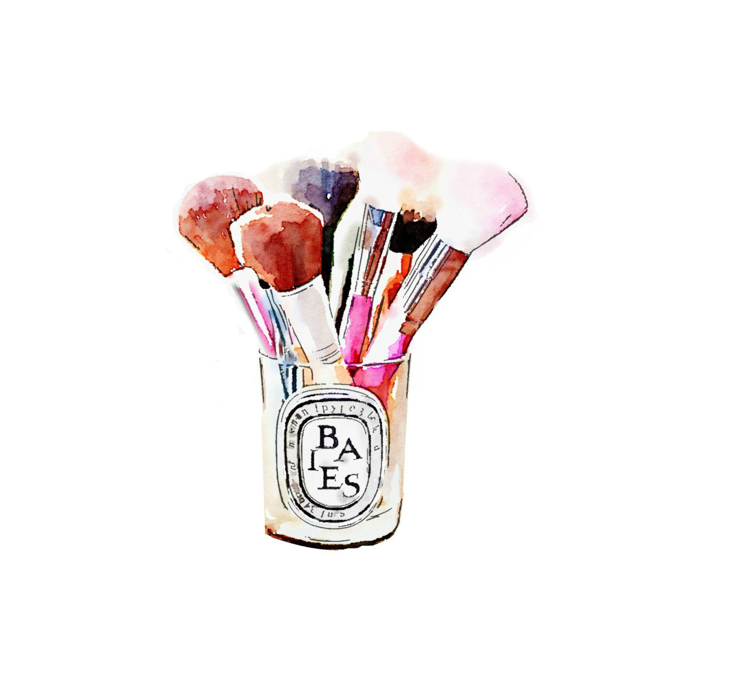 1500x1387 Diptyque Candle Makeup Brush Holder Print From By Lascandal