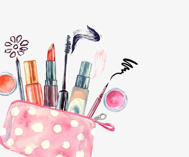 650x541 Drawing Cosmetics, Watercolor, Makeups, Makeup Png Image