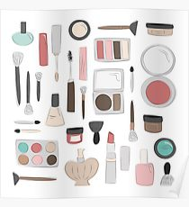 210x230 Makeup Drawing Posters Redbubble