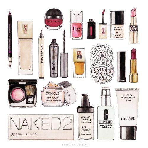 500x500 Drawing Illustration Art Makeup Cosmetics Watercolor Lipstick