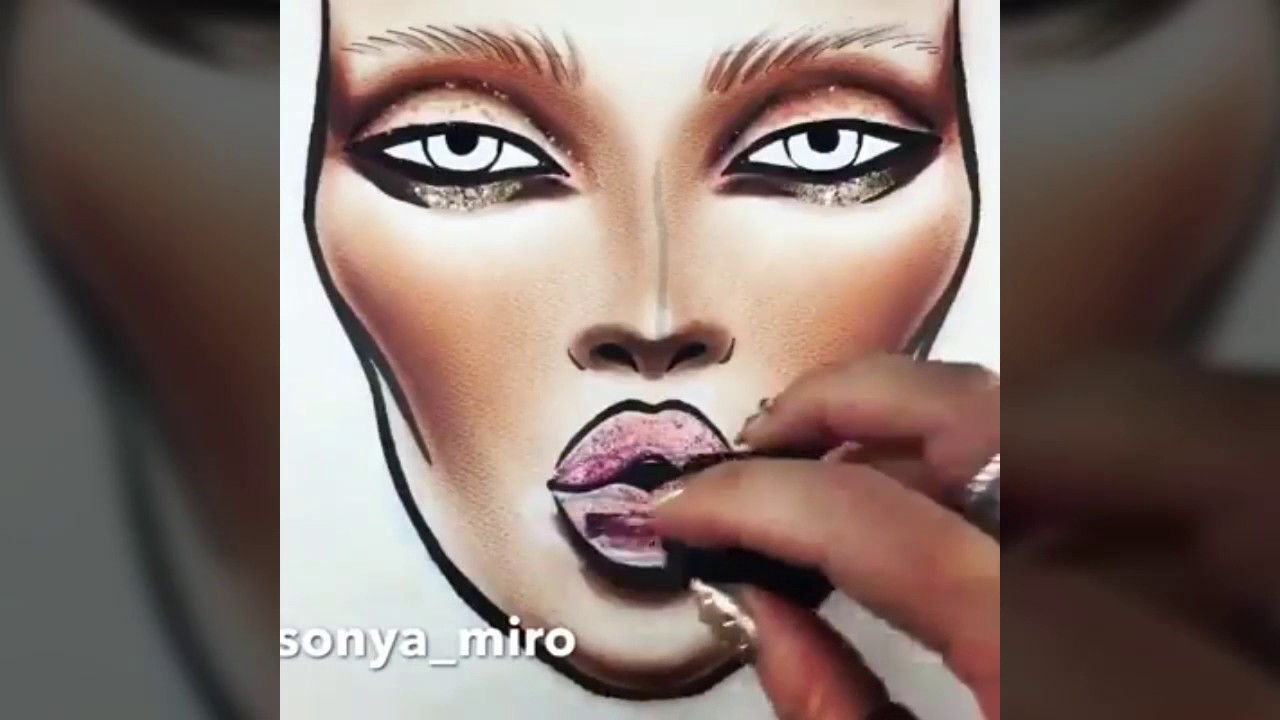 1280x720 Makeup Draw How To Draw A Face With Makeup