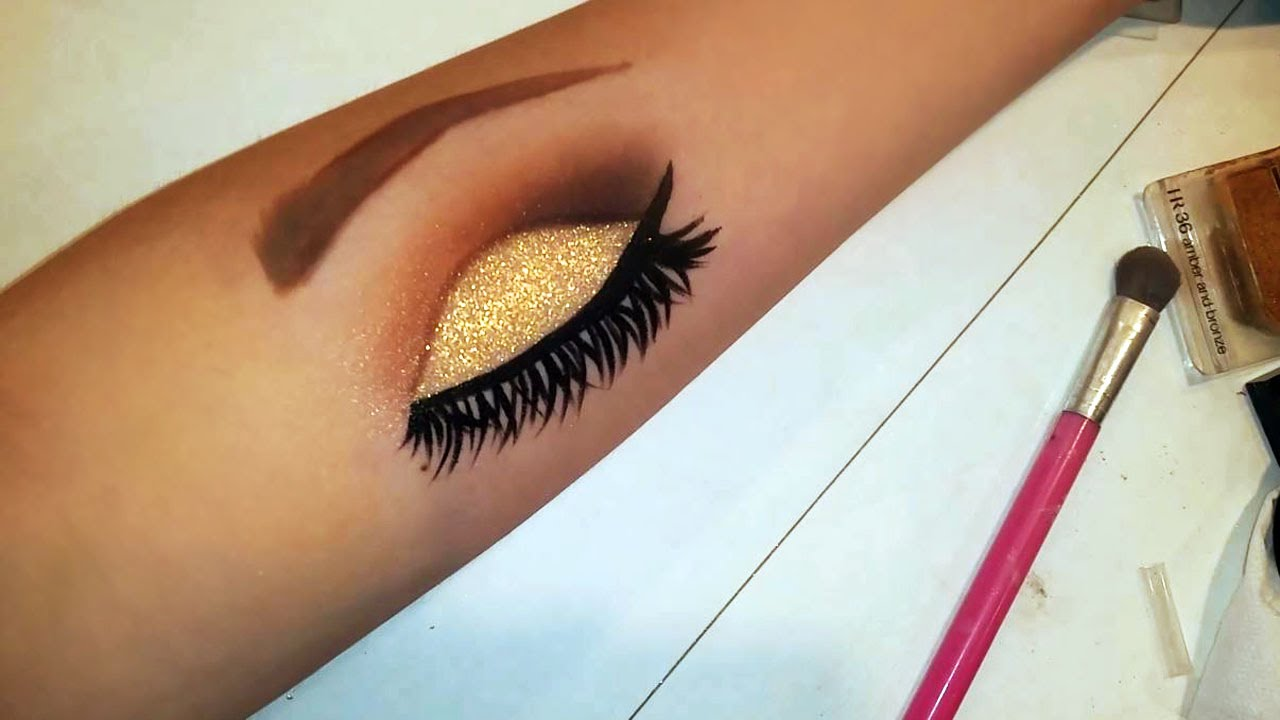 1280x720 How To Draw Eye Makeup On Your Arm!!
