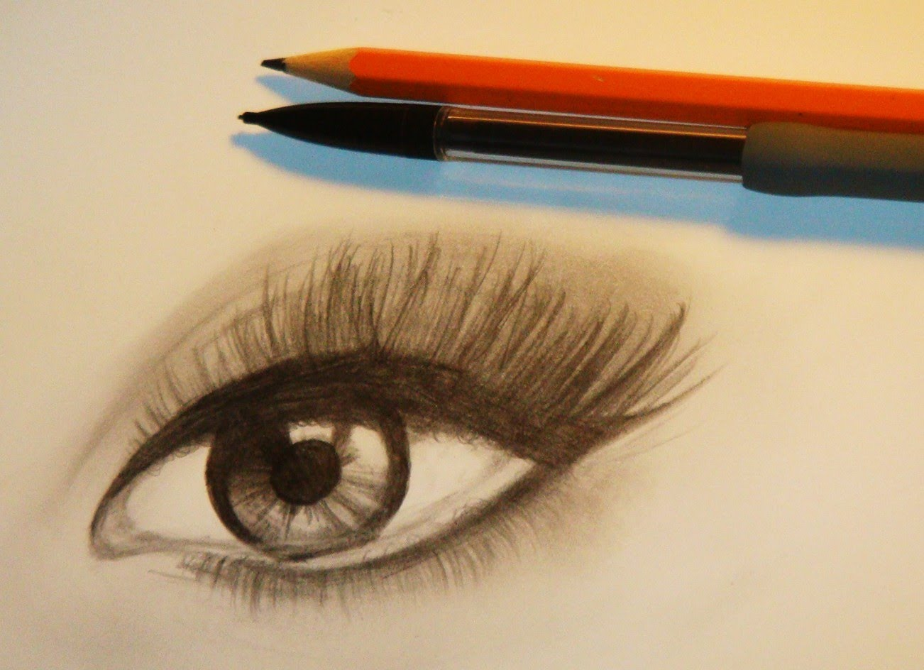 1302x944 How To Draw A Realistic Eye (With Makeup)