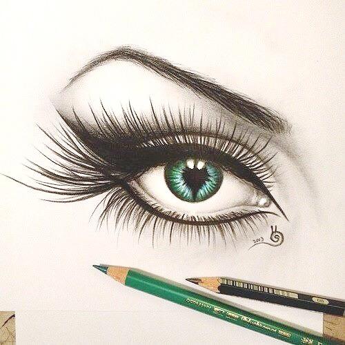 500x500 Beautiful, Blue, Draw, Eye, Makeup, Paint, Pen, School
