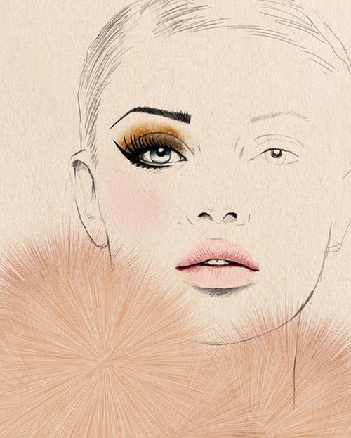 500x623 Drawing Makeup