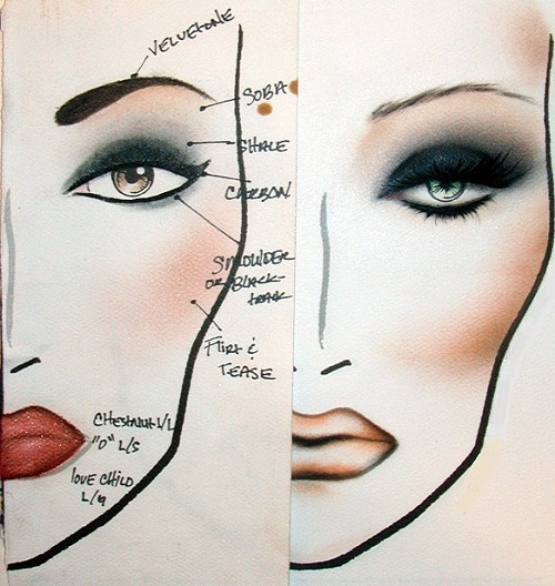 500x528 Face Drawing Outline!!!!! May Be Helpful For My Class!! Make Up