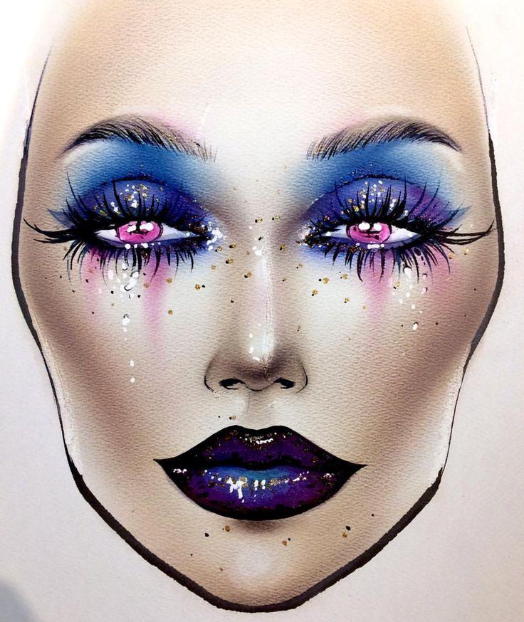 736x874 Fantastic Makeup Face Charts
