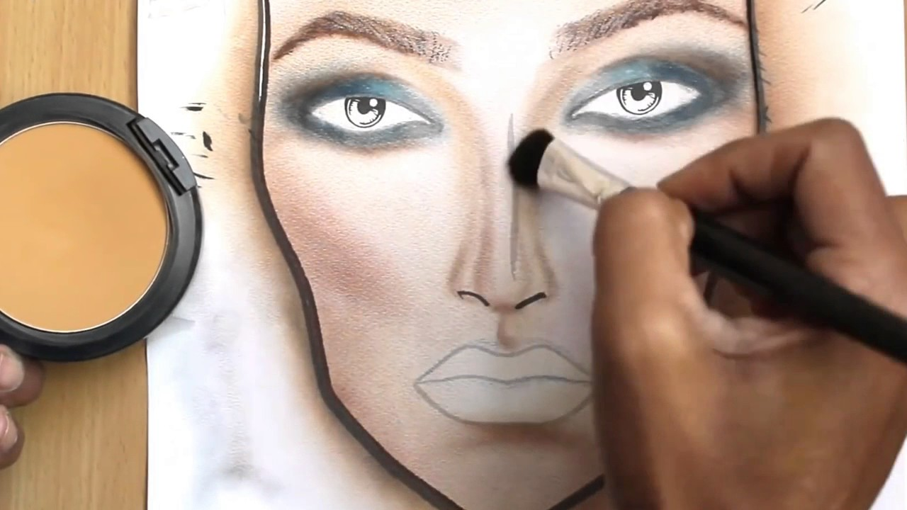 1280x720 How To Make A Makeup Face Chart Face Drawing [New]