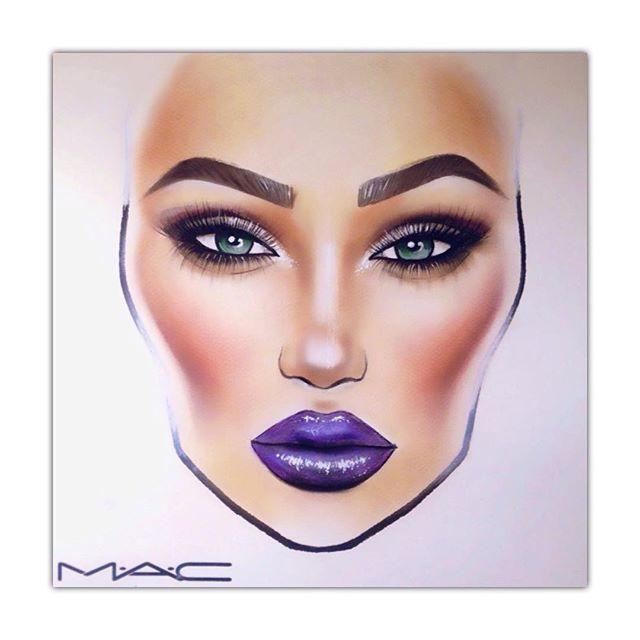 640x640 Pin By Alicia Mua On Mac Face Chart Art