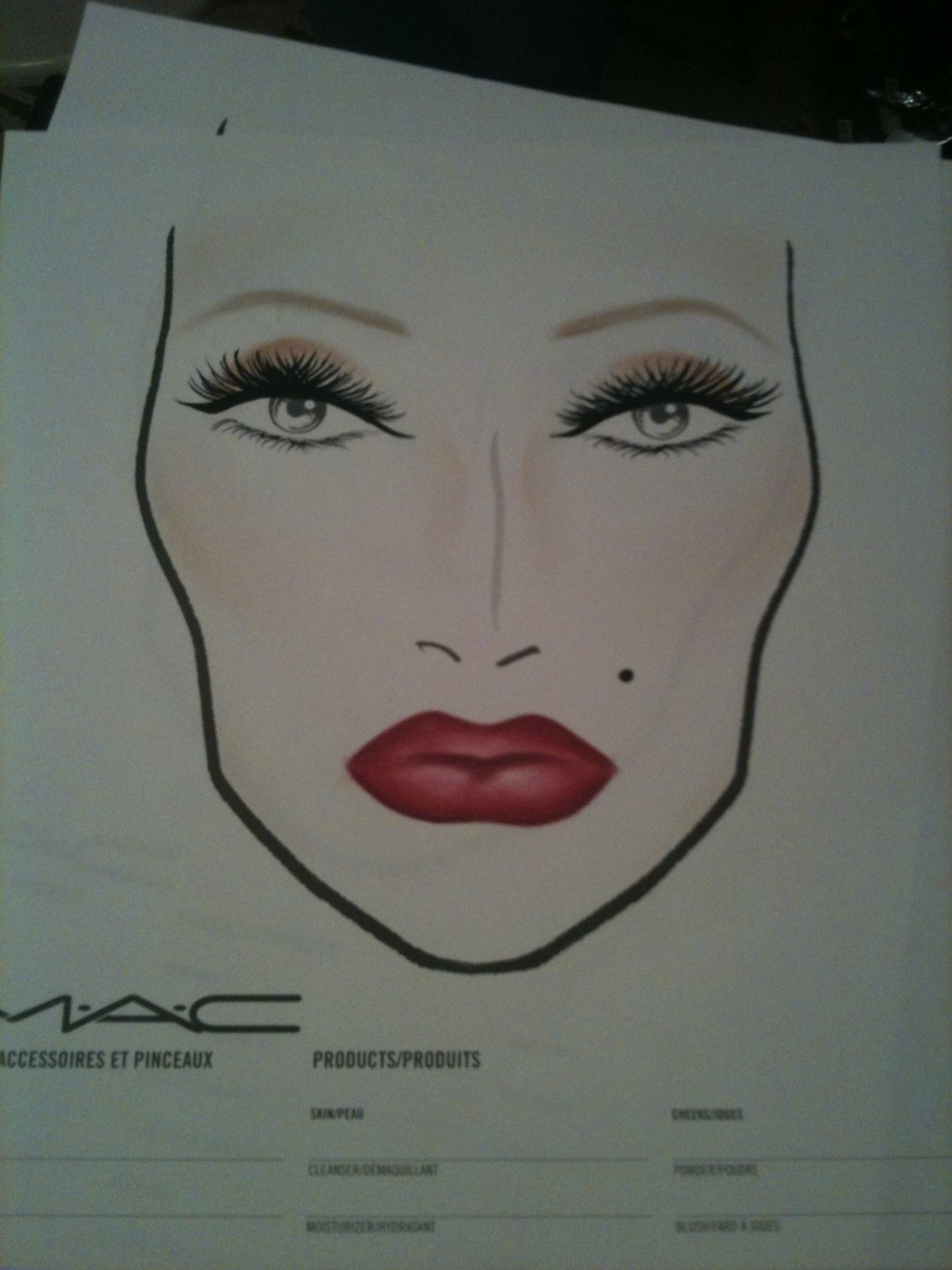 Makeup On Paper Drawing At Getdrawings