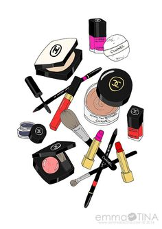 236x334 Cosmetics Products Drawing Illustration Ltbgtmakeupltgt