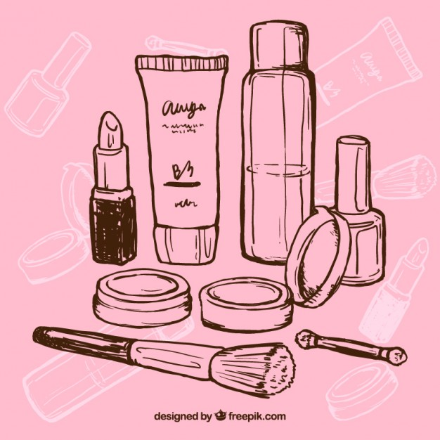 626x626 Hand Drawn Makeup Vector Free Download