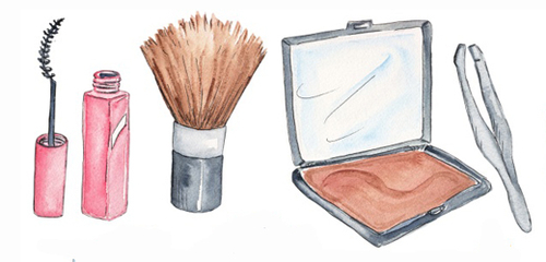 500x240 Makeup Products Drawing Tumblr