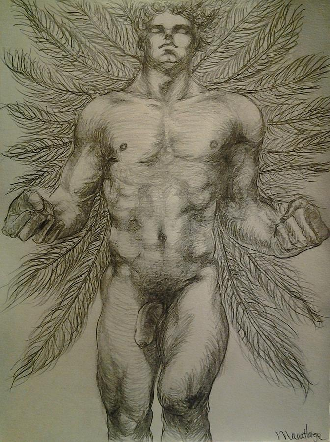 672x900 Angel Feather Drawing By Manat Large