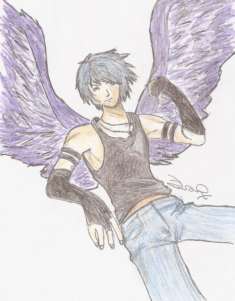 790x1010 Male Fallen Angel By Zarzii