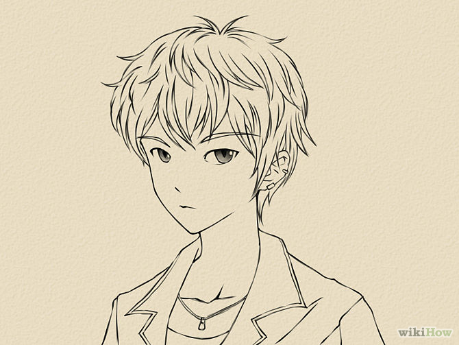 670x503 draw a manga face male manga doodle ideas and manga art