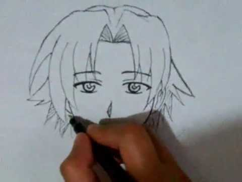 480x360 How To Draw Male Manga Face Front View