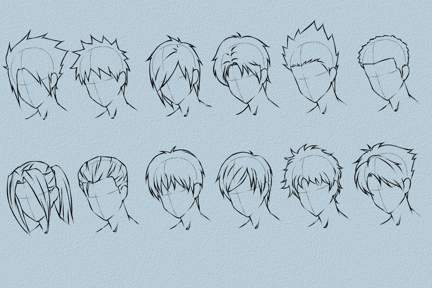 Male Anime Hairstyles Drawing at GetDrawings.com | Free for personal ...