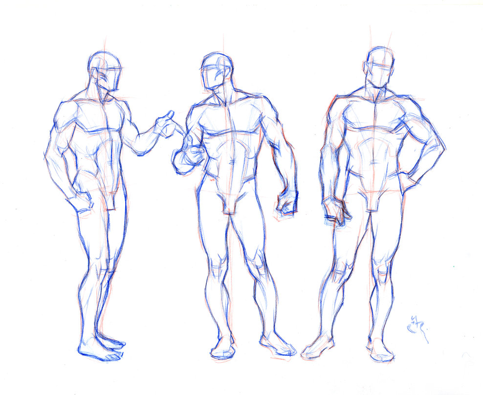 Male Body Drawing at GetDrawings.com | Free for personal use Male ...
