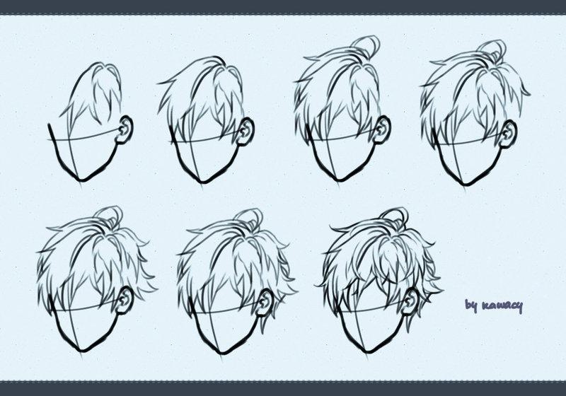 800x560 Drawing Male Hair By Kawacy