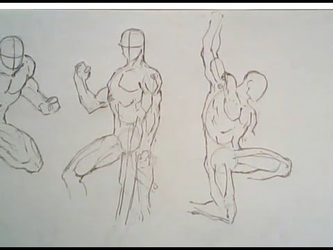 480x360 How To Draw Male Poses (Comic Book Style)