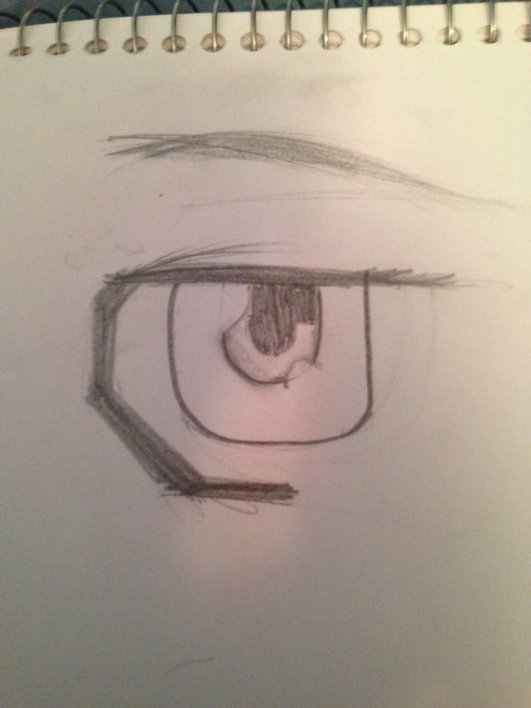 768x1024 How To Draw Male Mangaanime Eyes 5 Steps