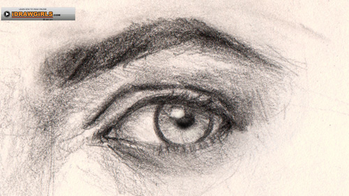 500x281 How To Draw Eye Three Quarter View