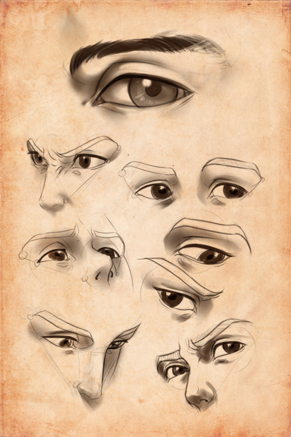 It is a picture of Bewitching Men Eyes Drawing