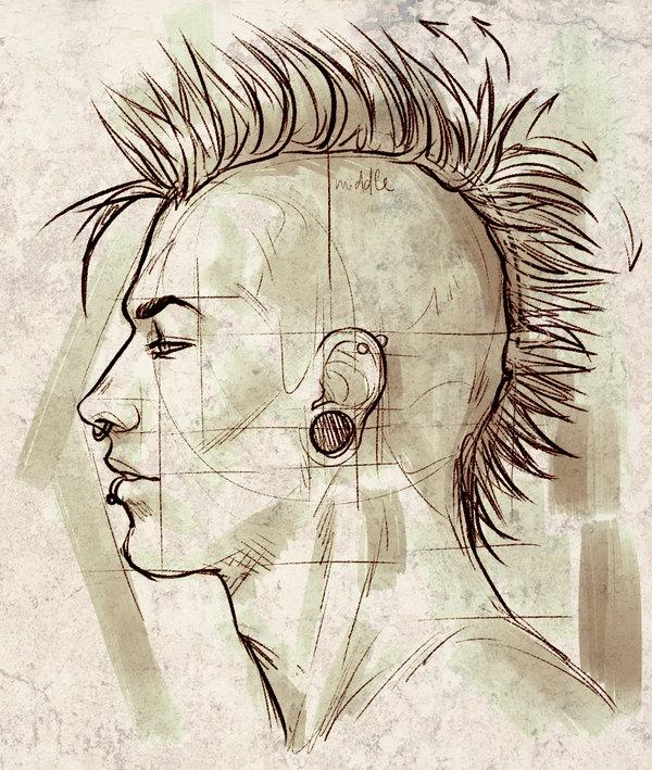 600x709 Punk Face Profile Proportions Study By Elephantwendigo.