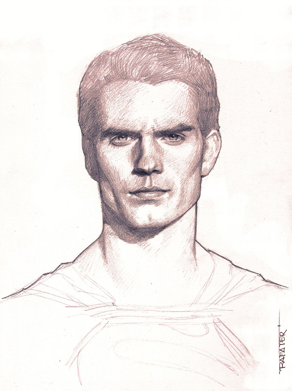 1024x1369 Man Of Steel Pencil Drawing By