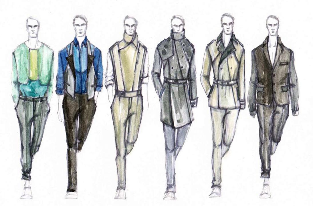 1094x720 Fashion Illustrations On Male Fashion Illustration