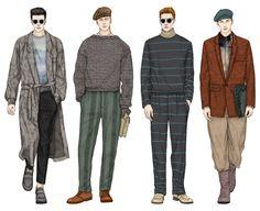 236x192 Men's Fashion Illustration By Alena Lavdovskaya B Amp W